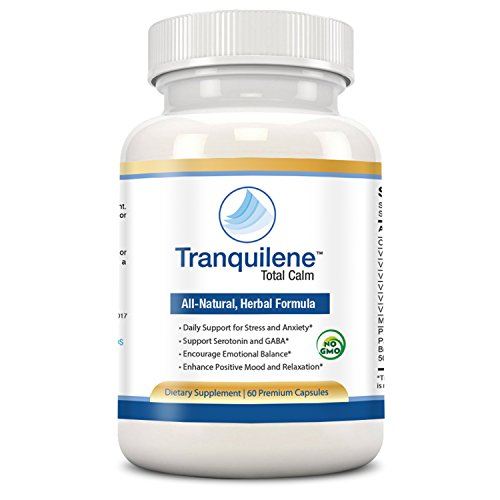 Natural anxiety relief treatment by Tranquilene Total Calm. Best GABA and Serotonin mood support supplement. Fast acting anti-anxiety formula for better sleep, stress relief or panic attacks naturally