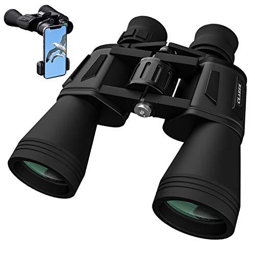 10x50 Fernglas, HD Fernglas Erwachsene Kinder, Kompakt Fernglas mit nachtsicht, Binoculars, Wasserdicht Vollständig Beschichteter FMC-Linse für Vogelbeobachtung Wandern Jagd Sightseeing, Tragetasche