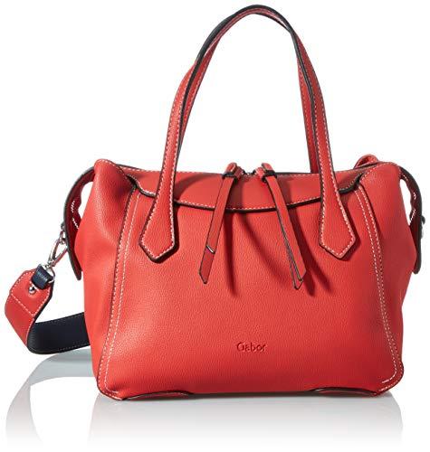 Gabor Damen Camille Shopper, mid red, Zip L