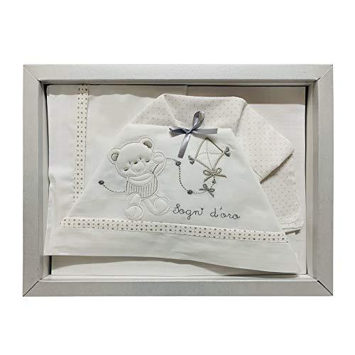 Nada Home - 2577 - Lot de 3 couffins coordonnés en coton pour bébé Culla-Carrozina gris