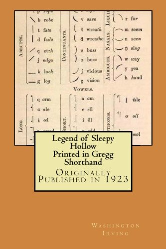 Legend Of Sleepy Hollow Printed In Gregg Shorthand