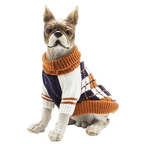 YiJee Kleine Hundchen Kleidung Haustier Halloween Warme Gestrickte Pullover M