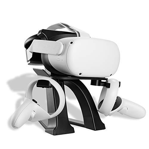 NEWZEROL 1 Set VR-Ständer Kompatibel für Oculus Quest,Oculus Quest 2,Oculus Rift, Oculus Rift S, Ventilindex, HTC Vive, HTC Vive Plus, VR-Headset Stand HTC Vive Pro, Controller Displayhalter - Schwarz