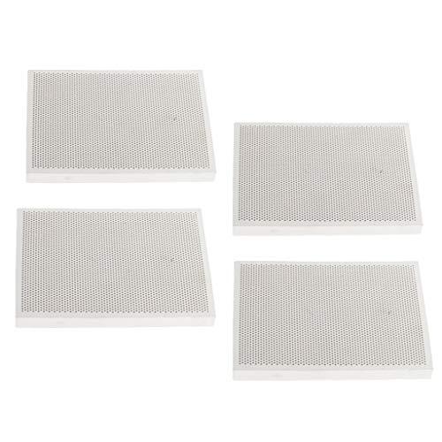 yotijar Ladrillo refractario aislante rectangular de 4 piezas – ladrillo de cerámica para soldadura térmica
