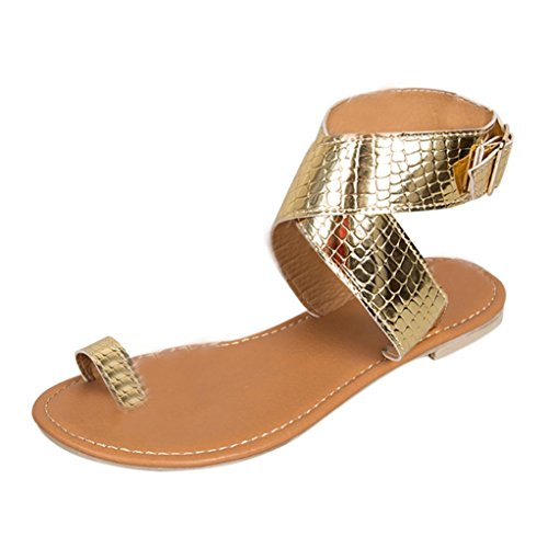 OHQ Zapatos para Mujeres Sra. Toe Roman Plano Sandals Pantuflas Sandalias De Verano Chanclas De Moda Casual Sandalias De Dedo con Clip De Mujer Sandalias Romanas Cómodo Y Elegante