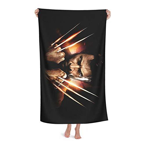 Wolverine - Toalla de baño súper absorbente, suave, cómoda, de secado rápido, tela de microfibra superabsorbente, ducha, spa, sauna, playa, gimnasio, albornoz (31 x 51 pulgadas)
