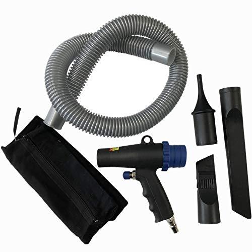 SNOWINSPRING Kit Compresor 2 en 1 para Plumero de Aire Soplado de VacíO de Aire MultifuncióN Herramientas NeumáTicas de AspiracióN por AspiracióN