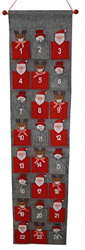 khevga - Calendario de Adviento para Rellenar (tamaño XXL, 135 cm, Bolsa de 9 x 9 cm)
