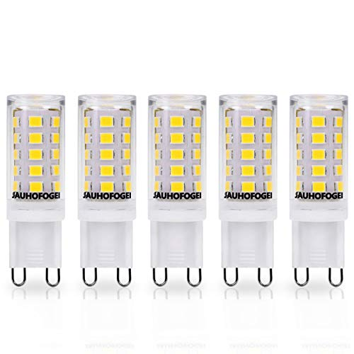JAUHOFOGEI G9 Kapsel-LED-Leuchtmittel, 3 W, 350 lm, kaltweiß, 6000 K Ra80, 28 W Halogen/40 W...