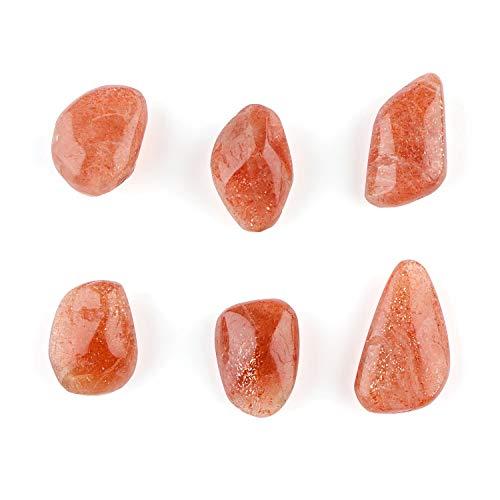 Jaguar Gems 100cts Sunstone Crystal Tumbles Supply Gift Assortment Home Decor Natural Gemstone Supply Meditation Reiki Healing Crystals   Energy Stones   Glittering Stone