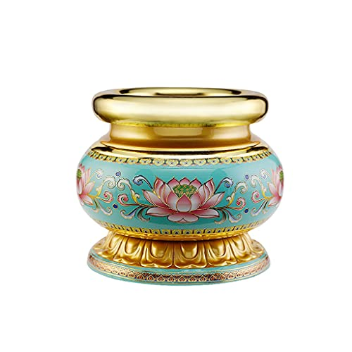 MBJ Incense Burner for The Buddha Worship Burn Incense Furnace Home Indoor Pure Copper Alloy Vaporizer Buddhism Buddha Tools Supplies Ornaments (Size : Small)