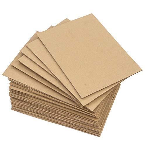 30 planchas de Cartón Corrugado A4 (210 x 297 mm), Laminas de cartón ondulado rígido 3 mm marrón kraft, para manualidades, envíos, cajitas, maquetas