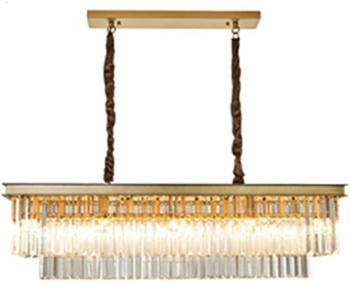YQDSY Luces Colgantes de Cristal Moderno de Lujo, Luces de Techo de Cristal Largas Ajustables E 14, Lámparas Modernas de Lámparas para Comedor Dormitorio Sala de Estar Bar-Dorado 80