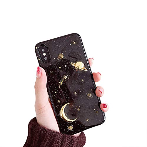 CXvwons Hülle iPhone XS MAX, Hülle Hülle iPhone XS MAX Bling Schutzhülle 3D Muster Kratzfest TPU Silikon Bumper iPhone XS MAX Handyhülle Schutzhülle Tasche für iPhone XS MAX