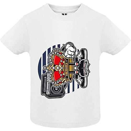 T-Shirt - Street King - Bébé Garçon - Blanc - 6mois