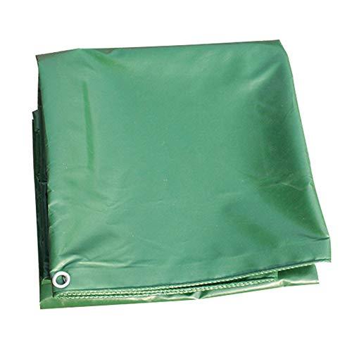WZNING Lona impermeable para exteriores, resistente al agua, cubierta de lona, cubierta de lona duradera y protectora (color: verde, tamaño: 6 x 6 m)