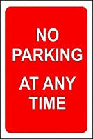 2個 いつでも駐車場はありませんブリキの看板金属板装飾看板家の装飾プラーク看板地下鉄金属板8x12インチ メタルプレートブリキ 看板 2枚セットアンティークレトロ