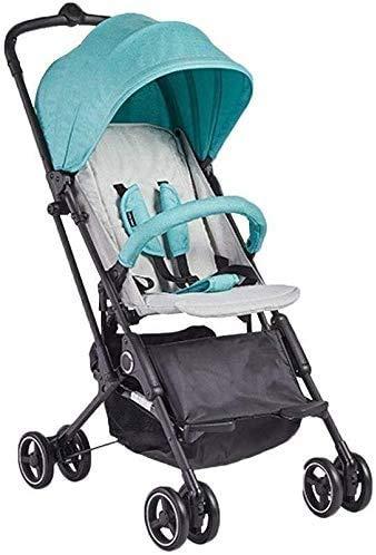 Fantastic Deal! JINHH Seated Baby Stroller, Horizontal Portable Folding 4 Wheel Shock Absorber Capsu...