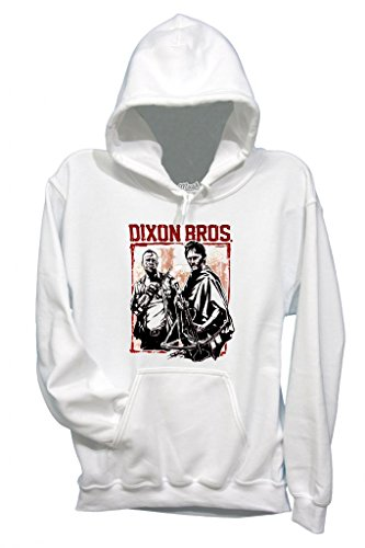 MUSH Sweatshirt Walking Dead Dixon Bros - Film by Dress Your Style - Homme-L-Blanc