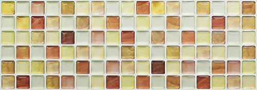 【 Dream Sticker 】 モザイクタイルシール キッチン 洗面所 トイレの模様替えに最適のDIY 壁紙デコレーション ALT-6 クラックオレンジ Crack orange 【 自作アートインテリア/ウォールステッカー 】 貼り方説明書付属 (1枚)