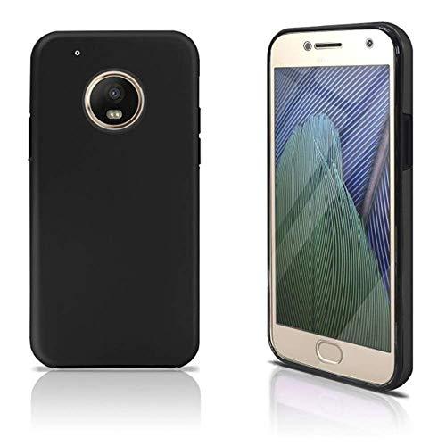 iGlobalmarket Funda para Motorola Moto G5 Plus - Carcasa Completa [360] de [Silicona] para móvil - (Transparente Frontal + Trasera Negra)