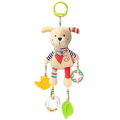 YsaAsaa Juguete para cochecito de bebé, juguete colgante de animal lindo para cuna, juguete para silla de coche de juguete para colgar juguetes, juguetes de peluche para recién nacidos y niños
