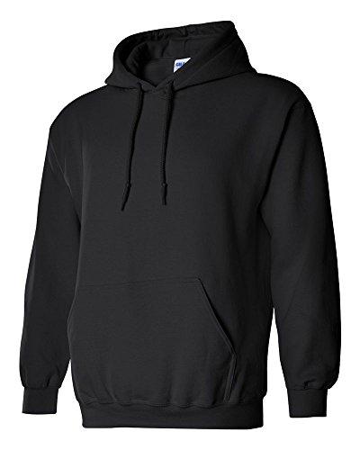 ギルダン GILDAN パーカー フ-ド スエット 長袖 米国ブランド ヘビーブレンド 8oz エコテックスラベル認定ブランド サイズ XS(YL)~2XL 31色 18500 (L, ブラック) [並行輸入品]