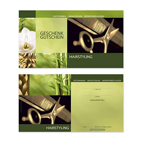 50 Stk. Hochwertige Gutscheinkarten Geschenkgutscheine. Gutscheine für Coiffeure. Vorderseite hochglänzend. K1261