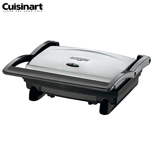 Cuisinart GR-1FR Griddler Panini and Sandwich Press, Stainless Steel - (Certified Refurbished)