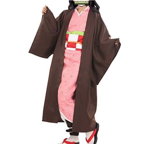 YKJ Disfraz de Cosplay de Anime para Mujer Traje de Fiesta de Mujer de Halloween de Kimono Rosa Disfraces completos,Full Set-S