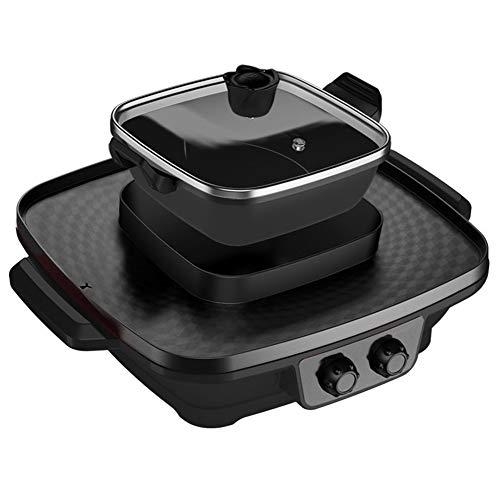 QHYY Rookvrij thuis Hot Pot Barbecue verticale verwarming elektrische grill grill voor bedrijfsfeesten