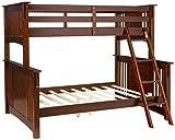 Furniture of America Concord Bunk Bed, Twin/Full, Dark Oak