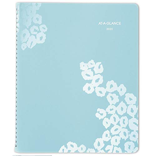AT-A-GLANCE 2020 Appointment Book, Weekly & Monthly Planner, 8-1/2' x 11', Large, Wild Washes, Light Blue (523-905)