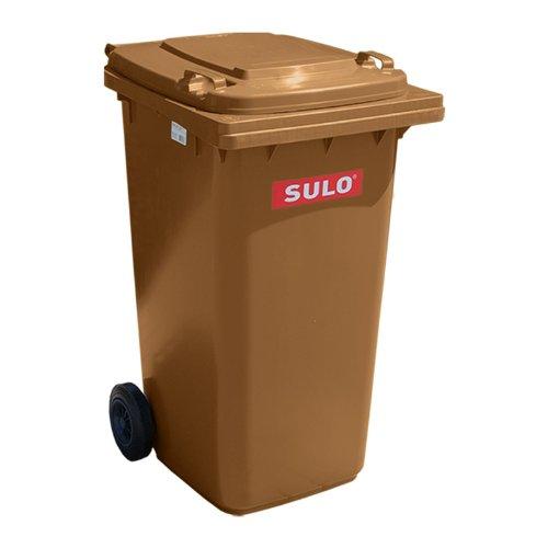 Müllbehälter, Inhalt 80 Liter, Farbe braun, BxTxH 445 x 520 x 930 mm, Niederdruck-Polyethylen (PE-HD)