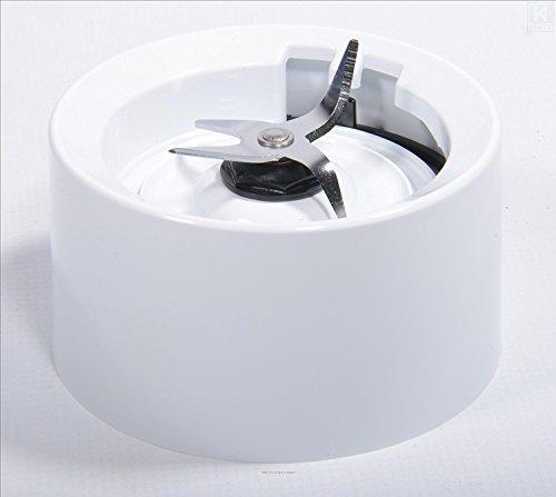 Base contenitore / Collare con Lame per Frullatore KitchenAid Bianco (avvitamento sulle versioni per KSB555, KSB565 ecc)