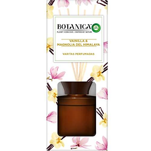 Botanica by Air Wick Varitas Perfumadas - Ambientador Mikados, Esencia Para Casa con Aroma a Vainilla y Magnolia del Himalaya - 80 ml