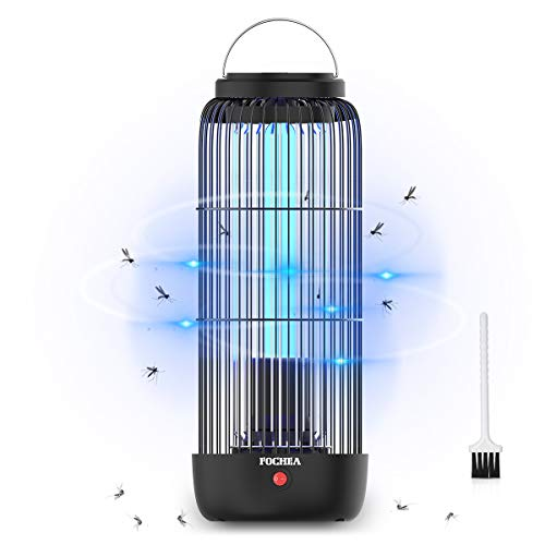 FOCHEA Lámpara Antimosquitos Eléctrico, 9W UV LED Mosquito Lámpara Trampa, Mosquitos Killer Área Efectiva 40㎡ para Dormitorio, Salón, Cocina, Jardín, contra Mosquitos, Insectos, Moscas, Polillas