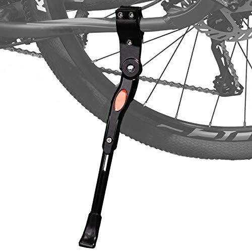 """Hoxsury Cavalletto Bici Cavalletto Regolabile per Bicicletta, Cavaletto Laterale in Alluminio con Il Piedino Gomma Antiscivolo per 22""""-28"""" Mountain Bike, Bici da Strada, MTB Bici Nero"""