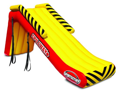 SportsStuff SPILLWAY Pontoon Slide, Yellow, Red (58-1350)