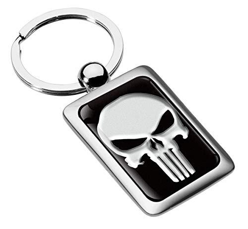 Keychain Chain Skull Keyring Womens Mens Key Stainless Steel Ring Jewelry Gift KK 217