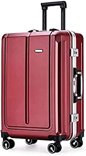 Multi-Purpose Backpack Trolley case Suitable for Climbing, Hiking, Camping, Office (Color : Wine Red, Size : 24Inch)