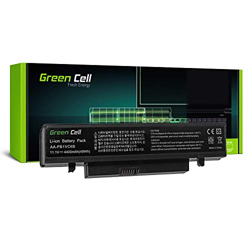 Green Cell Standard Series AA-PB1VC6B Battery for Samsung N210 N220 NB30 Plus Q330 X420 X520 Laptop (6 Cells 4400mAh 11.1V Black)