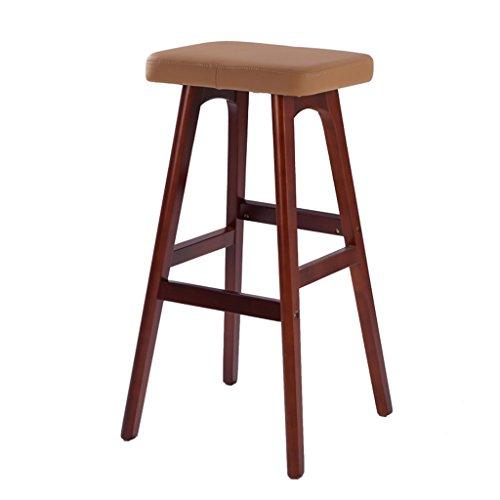 DNSJB barkruk massief houten bar bankjes creatieve barkruk hoge stoelen Europese mode barkruk houten kruk 41 * 42 * 78 cm