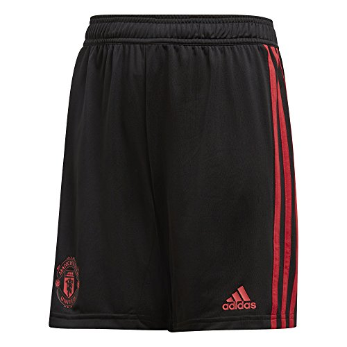 adidas Jungen Manchester United FC Training Shorts 1/4, Black/Blaze Red/Core Pink, 152