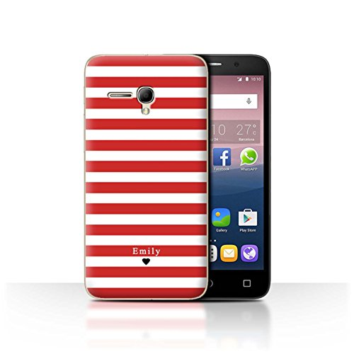 Stuff4Phone Case/Cover/Skin/alcpop355/Custom Stripes/Striped Collection Coeur Rayé Rouge