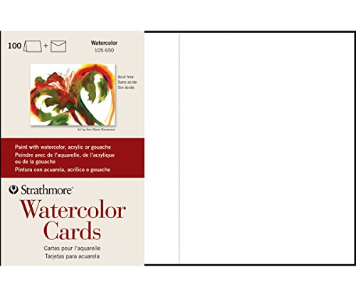 Strathmore Cards and Envelopes - Watercolor, Greeting, Box of 100