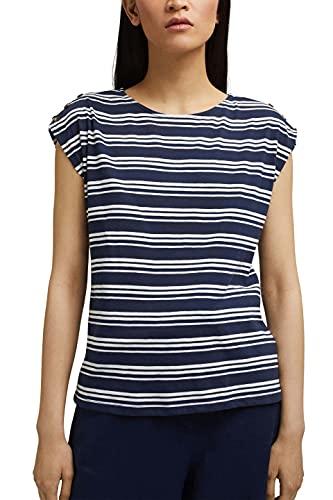 Esprit 061ee1k329 T-Shirt, Bleu Marine, XS Femme
