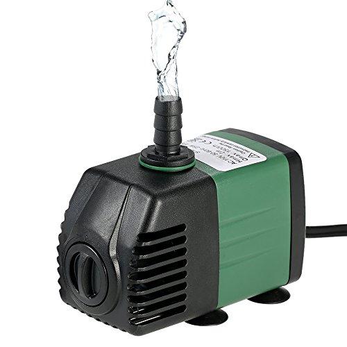 Decdeal 1500L/H 25W Bomba de Agua Sumergible con 2 Boquillas AC220-240V para Acuario Fuentes Jardín de Agua Sistema Hidropónico