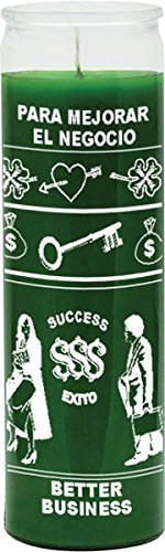 INDIO Better Business Green Candle - Silkscreen 1 Color 7 Day