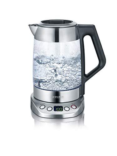 Severin - WK 3479 Bouilloire, 1,7 d'eau/1,5 Litre de Thé, Deluxe, Programmable, 3000 W, Verre/INOX, 1.7 liters